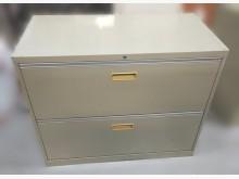 [7成新及以下] 灰色2抽理想櫃 資料櫃辦公櫥櫃有明顯破損