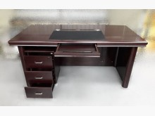 [8成新] 胡桃色主管桌+三抽活動櫃辦公桌有輕微破損