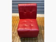 [8成新] 紅色單人沙發沙發矮凳有輕微破損