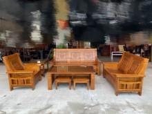[全新] NG樟木3+2+1沙發+大小茶几木製沙發全新