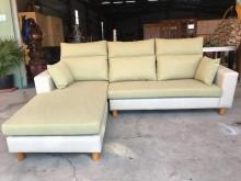[全新] 新品米白配蘋果綠半貓抓L型沙發L型沙發全新