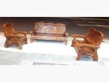 [8成新] 實木1+2+3沙發組木製沙發有輕微破損