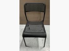[8成新] 黑色塑膠椅餐椅有輕微破損