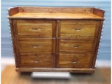 [8成新] 柚木六斗櫃碗盤櫥櫃有輕微破損