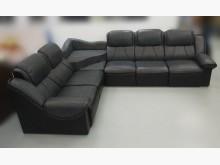 [8成新] 黑色L型皮沙發L型沙發有輕微破損