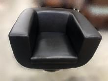 [9成新] A42602 * 黑色單人皮革沙單人沙發無破損有使用痕跡