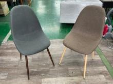 吉田二手傢俱❤全新布餐椅淺灰棕色餐椅全新