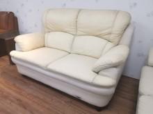 [8成新] 超超值溫馨小倆口半牛皮雙人沙發雙人沙發有輕微破損
