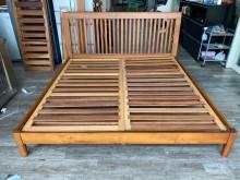 [95成新] 吉田二手傢俱❤風雙人實木床架單人床架近乎全新