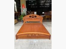柚木色半實木六尺床架雙人床架無破損有使用痕跡