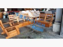 [8成新] 尋寶屋二手買賣~實木組椅木製沙發有輕微破損