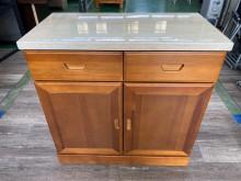 [95成新] 吉田二手傢俱❤半實木雙抽收納櫃收納櫃近乎全新