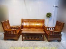 [9成新] 二手樟木色實木沙發組木製沙發無破損有使用痕跡