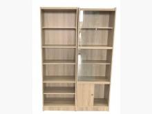 [全新] 全新木紋6格+玻璃書櫃組書櫃/書架全新