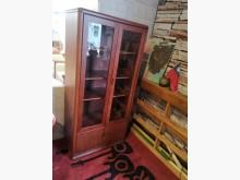[9成新] 淡淡實木香玻璃三尺書櫃書櫃/書架無破損有使用痕跡