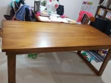 [8成新] 原木 U型腳長桌餐桌有輕微破損