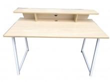 [95成新] *E50805*白橡色電腦桌*電腦桌/椅近乎全新