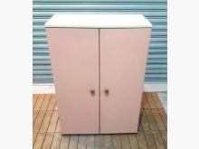 [8成新] 粉紅色鐵櫃辦公櫥櫃有輕微破損