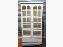 [8成新] 白色玻璃下二抽書櫃書櫃/書架有輕微破損