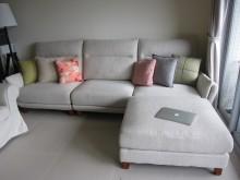 [95成新] 貓抓布3人座L型沙發(不含抱枕)L型沙發近乎全新
