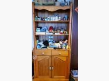 [9成新] 實木展示櫃-搬家出清收納櫃無破損有使用痕跡