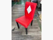 吉田二手傢俱❤紅色皮餐椅餐椅無破損有使用痕跡