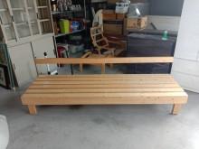 [95成新] 松木全實木長條型沙發H02777木製沙發近乎全新