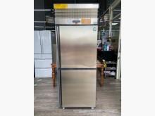 吉田二手傢俱❤雙門白鐵冷藏冰箱冰箱無破損有使用痕跡