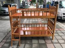 大慶二手家具 柚木色3尺上下舖單人床架無破損有使用痕跡