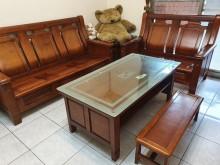 [9成新] 整套 實木家具 割愛出售木製沙發無破損有使用痕跡