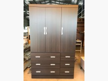 [全新] 全新4x7尺黑彩三拉門三抽衣櫃衣櫃/衣櫥全新