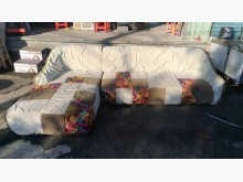[9成新] 【尚典】石紋造型左L布沙發L型沙發無破損有使用痕跡