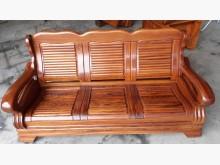[9成新] 原木實木3人坐木沙發木製沙發無破損有使用痕跡