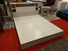[95成新] 時尚橡牙白5X6.2標準雙人床箱雙人床架近乎全新