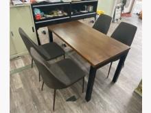 吉田二手傢俱❤皇齊工業風餐桌椅組餐桌椅組近乎全新