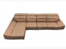 [9成新] *A52216*半牛皮L型沙發*L型沙發無破損有使用痕跡