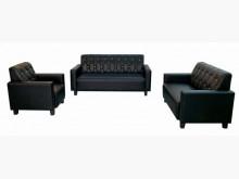 [全新] 全新黑色123皮沙發多件沙發組全新