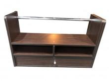 [8成新] *E52607*胡桃色桌架*書櫃/書架有輕微破損