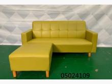 [9成新] 05024109 草綠色L型沙發L型沙發無破損有使用痕跡