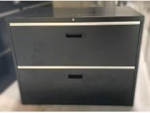 [7成新及以下] C52704*黑色雙抽理想櫃*辦公櫥櫃有明顯破損