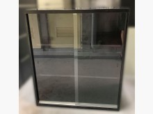 [8成新] C52708*黑色玻璃文件鐵櫃*辦公櫥櫃有輕微破損