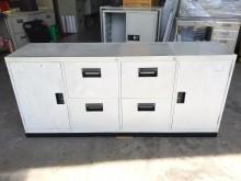 [9成新] 大慶二手家具 六尺四抽拉門鐵櫃辦公櫥櫃無破損有使用痕跡
