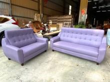 [全新] 新品紫色2+3獨立筒貓抓皮沙發多件沙發組全新