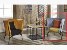 [全新] 2001657-2杰倫藍皮單椅單人沙發全新