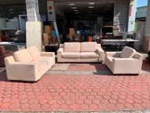 [9成新] 居家米黃色1+2+3人座棉布沙發多件沙發組無破損有使用痕跡