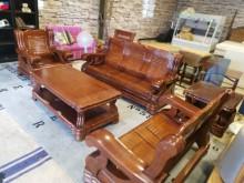 [8成新] 實實在在大塊實木321沙發組(含木製沙發有輕微破損