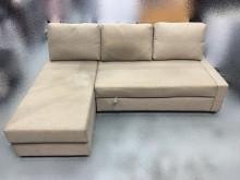 [9成新] A52908* L型米黃色布沙L型沙發無破損有使用痕跡