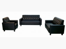 [全新] 全新黑色123人皮沙發多件沙發組全新