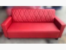 [全新] 全新紅色3人皮沙發雙人沙發全新