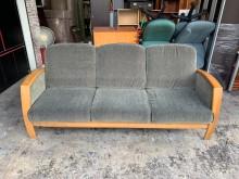 [9成新] 實木底座7尺 棉麻布三人座沙發椅雙人沙發無破損有使用痕跡